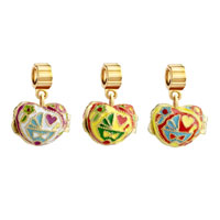 Charms Beads - YELLOW HEART LOVE FIT ALL BRANDS GOLD PLATED BEADS CHARMS BRACELETS alternate image 4.