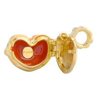 Charms Beads - ORANGE HEART CUP LOVE FIT ALL BRANDS GOLD PLATED BEADS CHARMS BRACELETS alternate image 2.