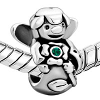 European Beads - JEWELRY GUARDIAN ANGEL FIT ALL BRANDS &  SILVER PLATED BEADS CHARMS BRACELETS alternate image 1.