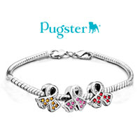Charms Beads - BREAST CANCER AWARENESS PINK RIBBON BEAD CHARM BRANDS CHARM BRACELET alternate image 3.