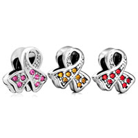 Charms Beads - BREAST CANCER AWARENESS PINK RIBBON BEAD CHARM BRANDS CHARM BRACELET alternate image 4.