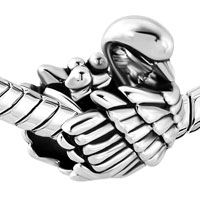 Italian Charms - MOM AND THREE BABY CHILD SWAN FAMILY LOVE ANIMAL CHARM FOR BRACELETS alternate image 1.