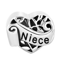 Italian Charms - FAMILY TREE OF LIFE HOLLOW HEART LOVE NIECE FIT MURANO GLASS LOOSE BEADS ALL BRANDS alternate image 2.
