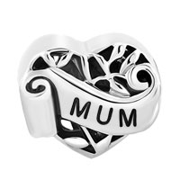 Italian Charms - FAMILY TREE OF LIFE HOLLOW HEART LOVE MUM MOM FIT MURANO GLASS LOOSE BEADS ALL BRANDS alternate image 2.