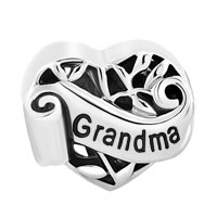 Italian Charms - FAMILY TREE OF LIFE HOLLOW HEART LOVE GRANDMA FIT MURANO GLASS LOOSE BEADS ALL BRANDS alternate image 2.