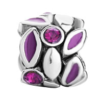 Charms Beads - PURPLE PETAL FEBRUARY BIRTHS AMETHYST CRYSTAL ROUND BEADS CHARMS alternate image 2.