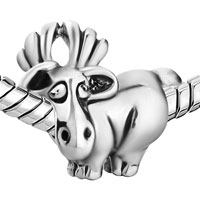 - SILVER TONE CUTE DAVID'S DEER EUROPEAN BEADS alternate image 2.