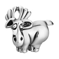 - SILVER TONE CUTE DAVID'S DEER EUROPEAN BEADS alternate image 1.