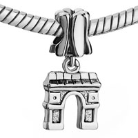 Charms Beads - FLOWER ARC DE TRIOMPHE FIT ALL BRANDS DANGLE EUROPEAN BEADS alternate image 1.