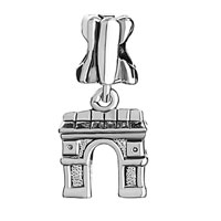 Charms Beads - FLOWER ARC DE TRIOMPHE FIT ALL BRANDS DANGLE EUROPEAN BEADS alternate image 2.