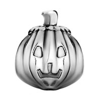 Charms Beads - SILVER TONE JACKOLANTERN HALLOWEEN PUMPKIN BEADS CHARMS BRACELETS alternate image 2.