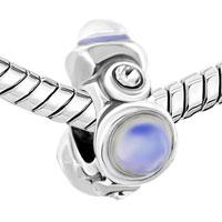 Charms Beads - IRREGULAR WHITE CAT CHARM BRACELET EYE CLEAR RHINESTONE CRYSTAL alternate image 1.
