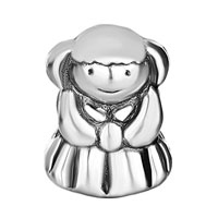Charms Beads - SILVER PLATED LITTLE AMERICAN GIRL CHARM BRACELET EUROPEAN BEAD alternate image 2.
