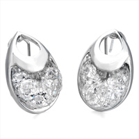 Earrings - APRIL BIRTHSTONE CLEAR SWAROVSKI CRYSTAL PURSE STUD EARRINGS alternate image 1.
