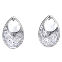 Earrings - APRIL BIRTHSTONE CLEAR SWAROVSKI CRYSTAL PURSE STUD EARRINGS alternate image 2.
