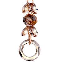 Earrings - NOVEMBER BIRTHSTONE SWAROVSKI TOPAZ CLUSTER HOOP DANGLE GIFT CRYSTAL EARRINGS alternate image 2.