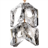 Earrings - GRAY CLEAR CZ CRYSTAL DOUBLE RHOMBUS HOOK DANGLE GLAM EARRINGS alternate image 2.