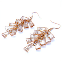 Earrings - NOVEMBER BIRTHSTONE SWAROVSKI TOPAZ CRYSTAL LADDERS DANGLE EARRINGS alternate image 1.