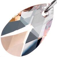 Earrings - HOOP DANGLE NOVEMBER BIRTHSTONE SWAROVSKI TOPAZ CRYSTAL DROP EARRINGS alternate image 2.