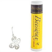 Earrings - STERLING SILVER FLOWER WITH HOLES EARRING DANGLE EARRINGS alternate image 1.