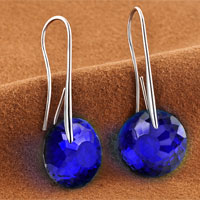 Earrings - SEPTEMBER BIRTHSTONE SAPPHIRE BLUE SWAROVSKI ELEMENTS CRYSTAL ROUND DROP EARRINGS TWELVE COLORS alternate image 1.
