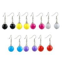 Earrings - WHITE BALL EDGES CORNERS EARRINGS FOR WOMEN alternate image 1.