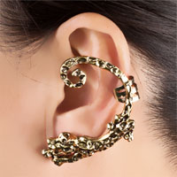Earrings - GOTHIC TEMPTATION ANTIQUE JAGUAR ANIMAL EAR WRAP STUD PUNK ROCK CUFF EARRING LEFT EAR alternate image 1.