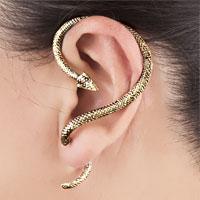 Earrings - GOTHIC TEMPTATION SNAKE ANIMAL CUFF EARRING LEFT EAR alternate image 1.