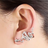 New Arrivals - GOTHIC TEMPTATION ANTIQUE SNAKE ANIMAL EAR WRAP STUD PUNK ROCK CUFF EARRING LEFT EAR alternate image 1.