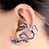 New Arrivals - GOTHIC TEMPTATION ANTIQUE DRAGON ANIMAL EAR WRAP STUD CUFF EARRING LEFT EAR alternate image 1.