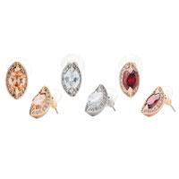 Earrings - TOPAZ CRYSTAL BERRY SHAPED STUD NOVEMBER BIRTHSTONE ELEGANT EARRINGS alternate image 2.