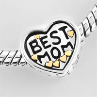 Bracelets - HEART LOVE BEST MOM BEADS LOBSTER CLASP BRACELET FIT ALL BRANDS CHARMS BEADS alternate image 2.