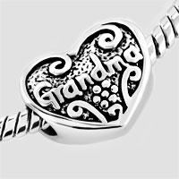 Bracelets - HEART LOVE GRANDMA BEADS HEART LOBSTER CLASP BRACELET FIT ALL BRANDS CHARMS BEADS alternate image 1.