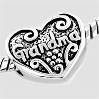 Bracelets - HEART LOVE GRANDMA BEADS HEART LOBSTER CLASP BRACELET FIT ALL BRANDS CHARMS BEADS alternate image 2.