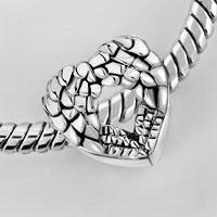 Bracelets - HEART ANGEL WING FILIGREE ANTIQUE VINTAGE EUROPEAN LOVE LOVER BEADS HEART LOBSTER CLASP BRACELET FIT ALL BRANDS CHARMS BEADS alternate image 1.