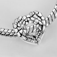 Bracelets - HEART ANGEL WING FILIGREE ANTIQUE VINTAGE EUROPEAN LOVE LOVER BEADS HEART LOBSTER CLASP BRACELET FIT ALL BRANDS CHARMS BEADS alternate image 2.