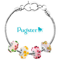 Charms Beads - PINK FLOWER LAMPWORK SILVER MURANO GLASS BEADS CHARMS BRACELETS FIT ALL BRANDS alternate image 3.