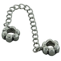 Charms Beads - METALWORK FLOWERS CHAIN LINK CHARM FOR BRACELETS CHARM BEAD BRACELET alternate image 2.