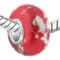 Charms Beads - WHITE RED TURQUOISE FITS MURANO GLASS BEADS CHARMS BRACELETS FIT ALL BRANDS alternate image 1.
