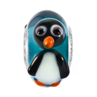 Charms Beads - CUTE PENGUIN GIFT FITS MURANO GLASS BEADS CHARMS BRACELETS FIT ALL BRANDS alternate image 2.