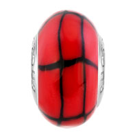 European Beads - RED AND BLACK DIAMONDS POLYMER CLAY BEADS CHARMS BRACELETS alternate image 2.