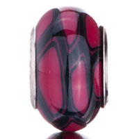 Charms Beads - DARK RED BLACK FUSION IRREGULAR FIT ALL BRANDS MURANO GLASS BEADS CHARMS BRACELETS alternate image 2.