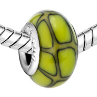 Charms Beads - GREEN CITRINE YELLOW FUSION POLYMER CLAY FIT ALL BRANDS BEADS CHARMS BRACELETS alternate image 1.