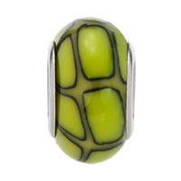 European Beads - GREEN AND BLACK IRREGULAR SHAPES POLYMER CLAY BEADS CHARMS BRACELETS alternate image 2.