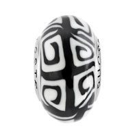 Sterling Silver Jewelry - WHITE BLACK REGULAR 925  STERLING SILVER JEWELRY FITS MURANO GLASS BEADS CHARMS BRACELETS FIT ALL BRANDS alternate image 2.