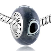 Sterling Silver Jewelry - BLACK EVIL EYES 925  STERLING SILVER GIFT JEWELRY FITS MURANO GLASS BEADS CHARMS BRACELETS FIT ALL BRANDS alternate image 1.