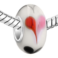 Charms Beads - LOVER WHITE RED BLACK HEART MURANO GLASS BEADS CHARMS BRACELETS FIT ALL BRANDS alternate image 1.