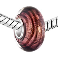 Charms Beads - PURPLE SPIRAL LINE FIT MURANO GLASS BEADS CHARMS BRACELETS ALL BRANDS alternate image 1.