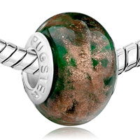 Charms Beads - DEEP GREEN GORGEOUS FIT ALL BRANDS BEADS CHARMS BRACELETS alternate image 1.
