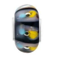 Charms Beads - YELLOW BLUE PEACOCK FEATHER MURANO GLASS BEADS CHARMS BRACELETS FIT ALL BRANDS alternate image 2.